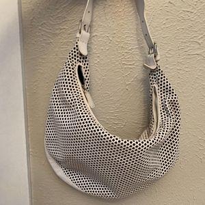 Vintage Christian Dior Whit Leather Shoulder Bag